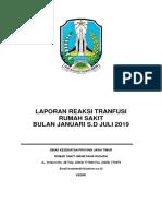 Laporan Reaksi Transfusi Semester 1 2019-1