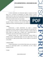Caderno Direito Administrativo OAB