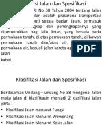 Klasifikasi Jalan dan Spesifikasi.pptx