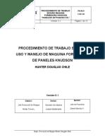 Procedimiento de Trabajo Seguro Uso y Manejo de Máquina KNUDSON