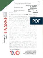 Of. 072-2019-UNASSE al ministro Petrozzi