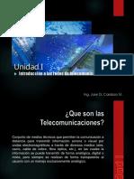Unidad I (Introduccion a Las Redes de Telecomunicaciones)