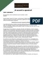 Guida all'uso di accenti e apostrofi nell'italiano