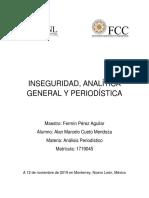 Inseguridad analítica general Análisis Periodístico