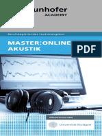 Flyer Master Online Akustik 8S 2019