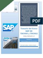 Temario Del Curso de SAP SD TSCM60 y TSCM62