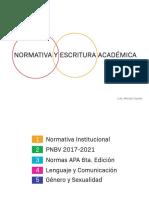 NORMATIVA Y ESCRITURA ACADÉMICA