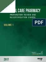 ACCP-SCCM Critical Care Pharmacy Prep Course 2017 Vol.1 [PDF] Www.medicalbr.tk