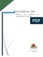 Acuerdo Municipal No. 008 - Eot