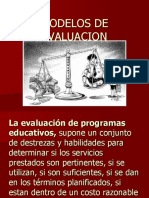2 Modelos de Evaluacion de Programas