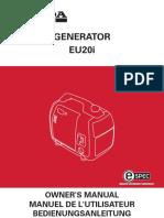 Manual Generador Honda EU20I