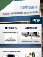 Resolución 2674 de 2016 CAPÍTULO IV