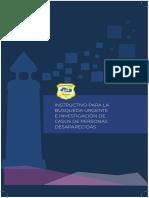 Instructivo Para La Búsqueda Urgente e Investigación de Casos de Personas Desaparecidas