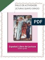 Cuadernillo Español Lecturas 5 Grado 2019
