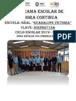 Programa Escolar de Mejora Continua 2019-2020
