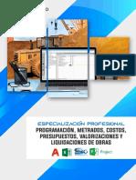 Brochure_programación, Metrados, Costos, Presupuestos, Valorizaciones y Liquidaciones de Obras (1) (1)