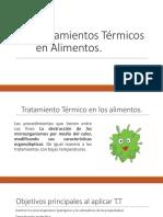 Conservación de alimentos por tratamientos termicos