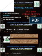 Codigo de Etica Ley 27815
