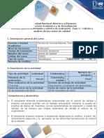 Guía de Actividades y Rúbrica de Evaluación - Fase 4 - Cálculo y Análisis de Los Costos de Calidad