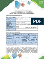 Guía de Actividades y Rúbrica de Evaluación - Paso 3 - Toma de Decisión Con Información Espacial