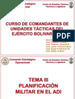 TEMA III PLANIFICACION MILITAR EN EL ADI.ppt