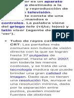 Un televisor es un aparato electrónico destinado a la recepción y….pdf