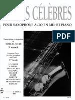 Piezas Clásicas Célebres Vol 3 Saxofon Alto y Piano