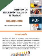 ISO 45001 2018, Sistema de Gestión de SST_2da Sesión