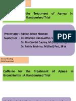 Caffeine for the Treatment of Apnea in Bronchiolitis