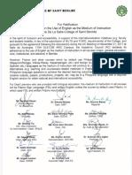 AC Ratification - English as Medium of Instruction
