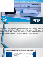 Step by Step Instructions to Connect HP Printer to Wifi