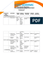 Action Plan -Sdrrm SY 2019-2020