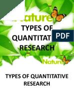 Lesson 2 Types of Quantitative Research