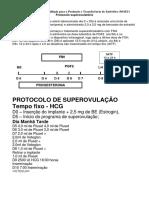Protocolo superovulatório