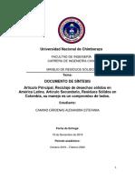Documento de Síntesis Residuos Sólidos Urbanos