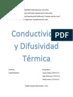 Conductividad y Difusividad Termica
