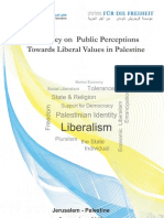 "Opinion Poll "" Public Perceptions Towards Liberal Values in Palestine"""