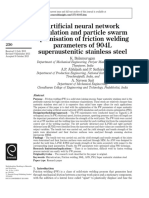 [4]Artificial Neural Network Simulation and Particle Swarm Optimisation of Friction Welding Parameters of 904L Superaustenitic Stainless Steel