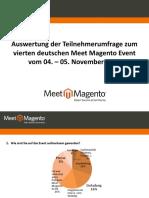 Auswertung der Teilnehmerumfrage der Meet Magento #4.10