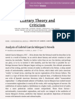Analysis of Gabriel García Márquez's Novels | Literary Theory and Criticism