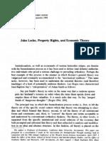 John Locke, Property Rights and Economic Theory