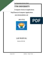 BCA Lab Manual 2019-20 Final