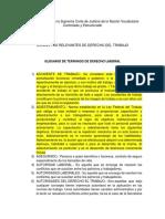 Glosario de Términos DERECHO LABORAL