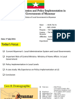 Local Administration System and Local Governments