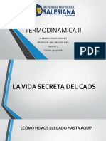 Termodinamica II La Vida Secreta Del Caos