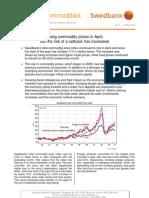 Energy & Commodities, 2010, regarding April