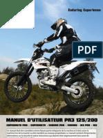 AJP MOTOS -  PR3 Manuel D'Utilisateur