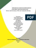 Pengkajian Keperawatan Komunitas Berdasarkan Pendekatan Empat Metode Pengkajian Survey Asset Inventory FGD dan Community Meeting