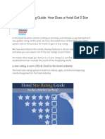 Hotel Star Rating Guide