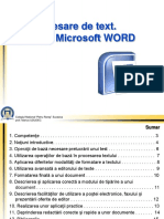 Procesare de Text Word